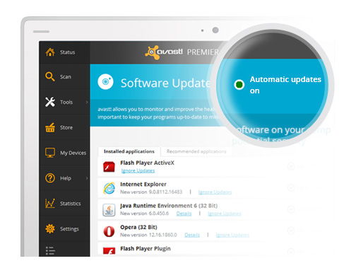 avast! Automatic Software Updater