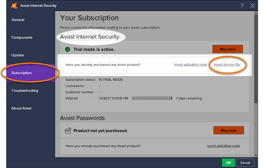 Avast FAQ | Avast Antivirus: Activating Avast Internet Security with a license file