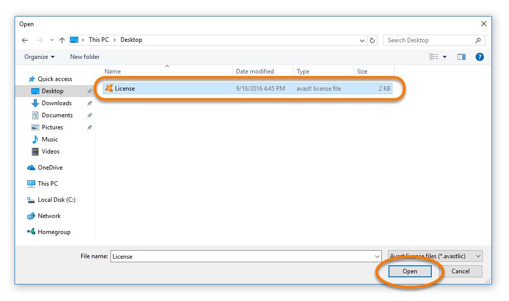 Avast FAQ | Avast Antivirus: Activating Avast Pro Antivirus with a license file