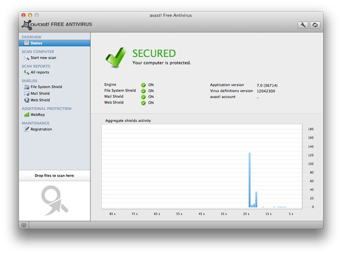 Avast Free Mac Security screenshot