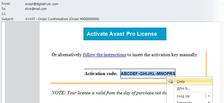 код активации для Avast Free Antivirus 2015 - фото 3