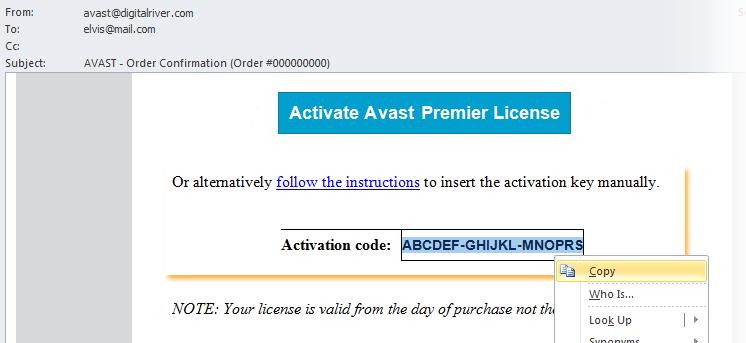 Аваст Лицензионный Код