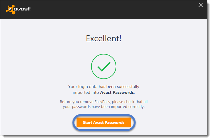 how to delete passwords from avast