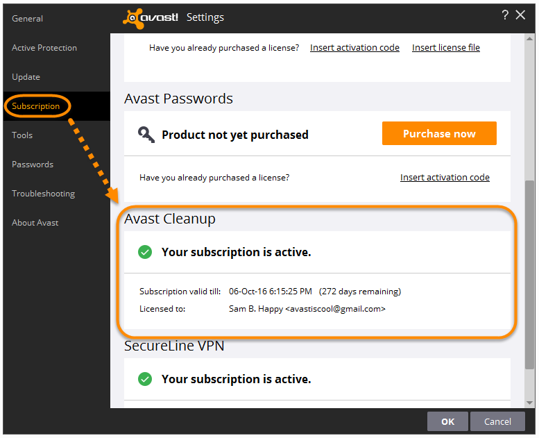 avast passwords the extension is not activated