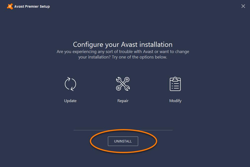 Avast FAQ | Avast Antivirus: Uninstalling Avast Antivirus via the ...
