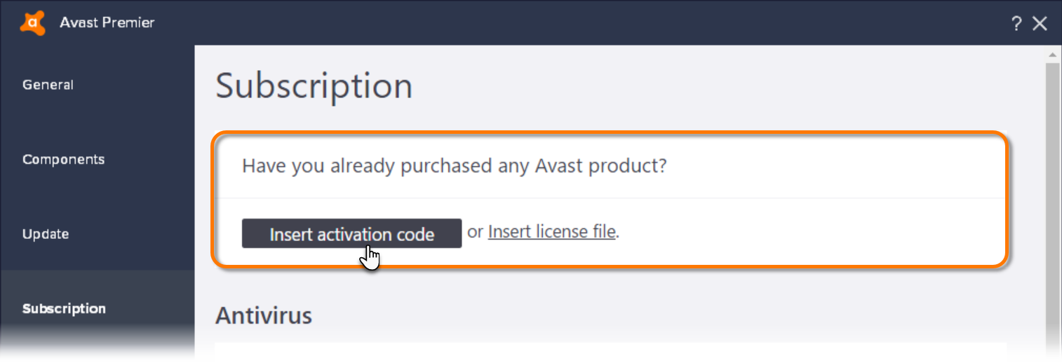 avast activation code 2017