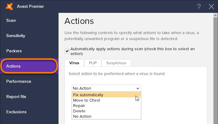 Anpassen Der Einstellungen Fur Avast Antivirus Prufungen Offizieller Avast Support