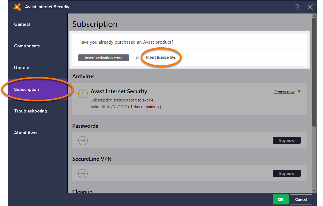 Скачать файл лицензии для avast internet security