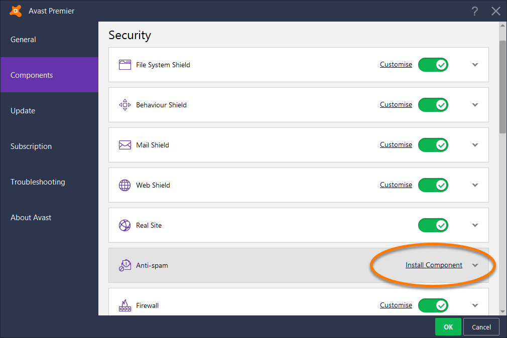 how to add exclusion avast