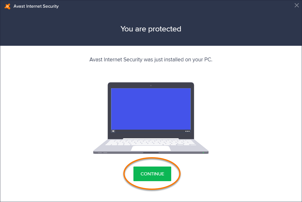 Installing Avast Internet Security Official Support 8n Electrical System Trouble Shooting When Won39t Start Youtube Click Continue On The Screen Below Message You Are Protected