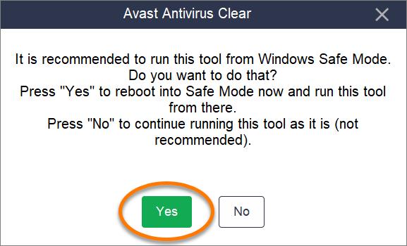 avast antivirus uninstall windows 10