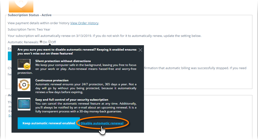 cancel automatic renewal of avast | ReviverSoft Answers