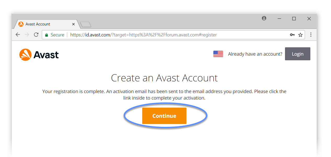 sign in to avast account