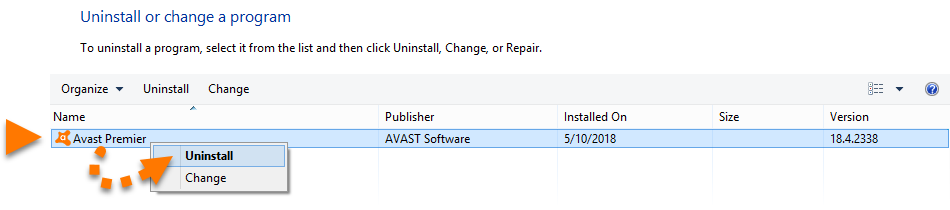 avast setup is already running uninstall