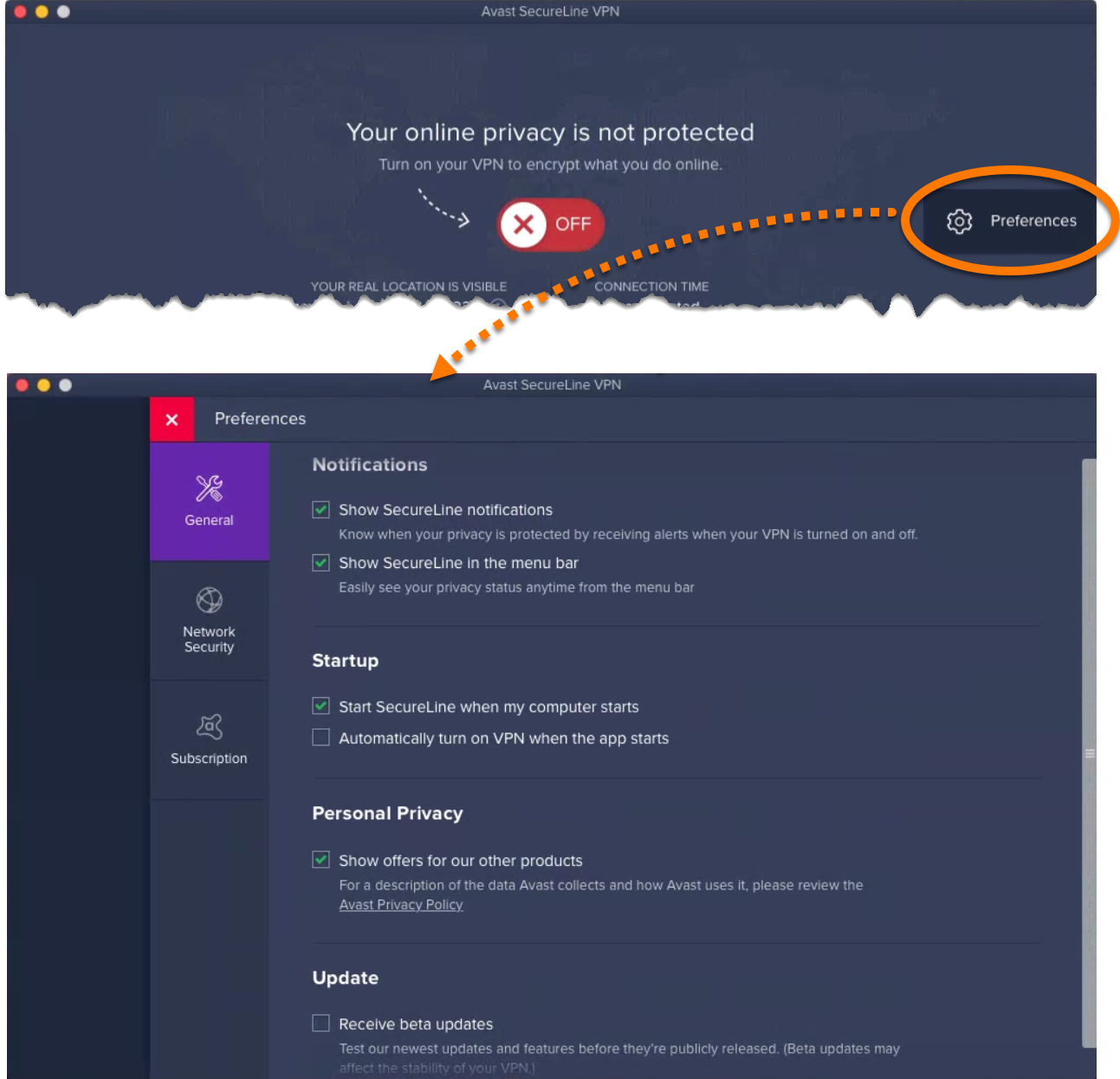 how to delete avast secureline vpn