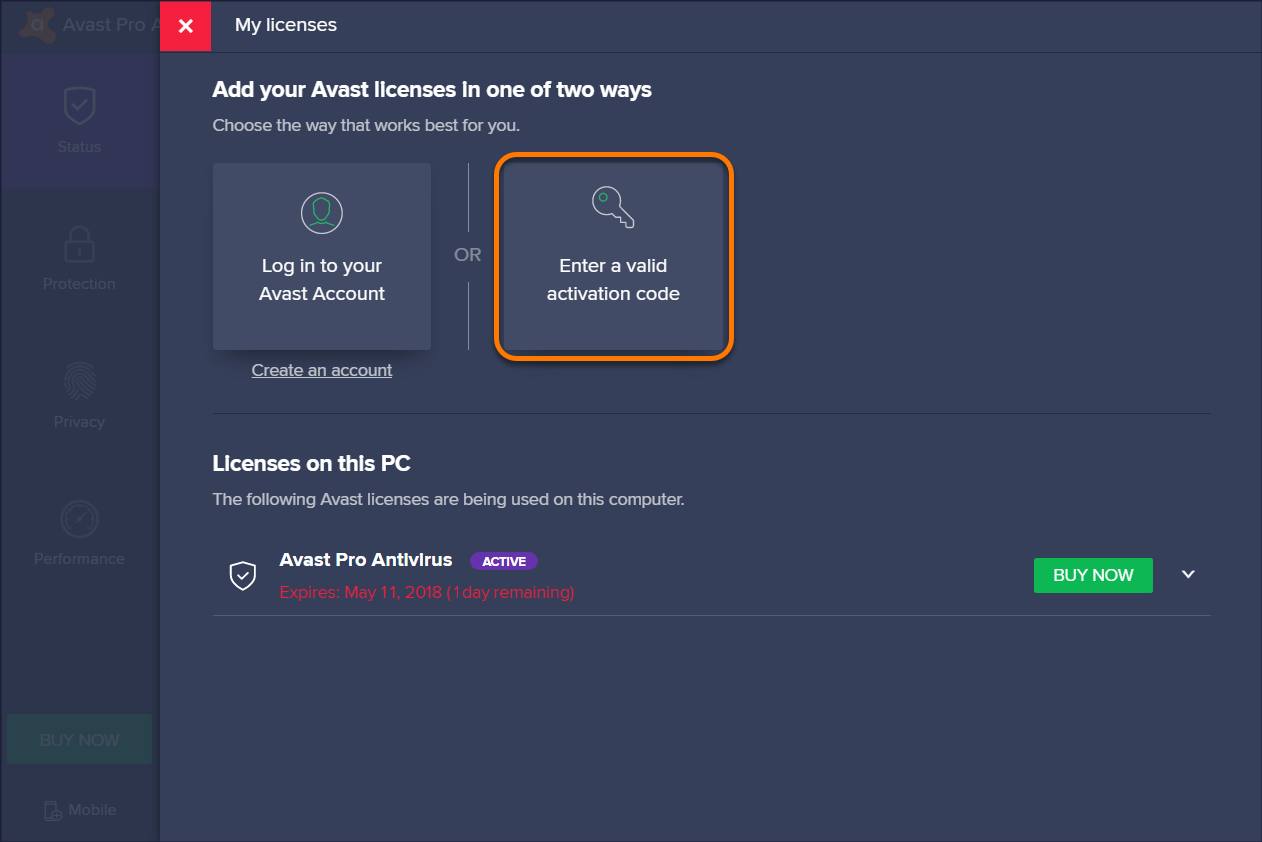 avast pro activation code 2018