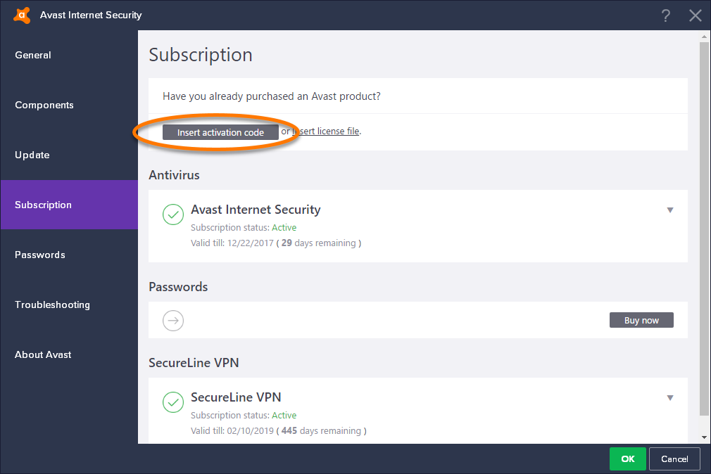 how to open into internet with avast hero