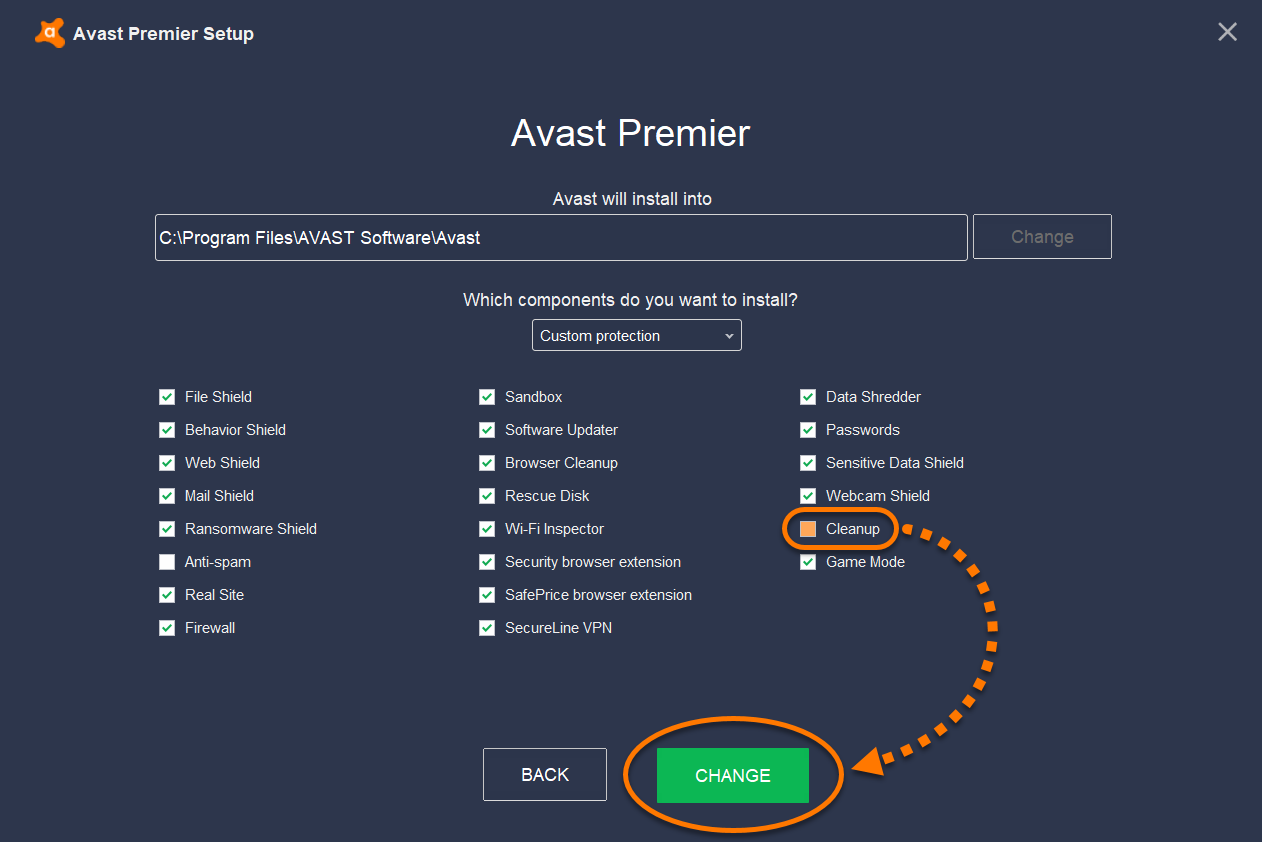 avast premier cleanup
