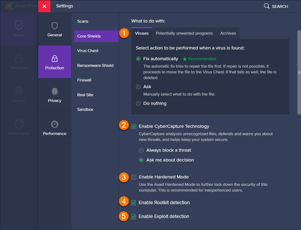 Adjusting settings for Avast Antivirus shields | Official Avast Support