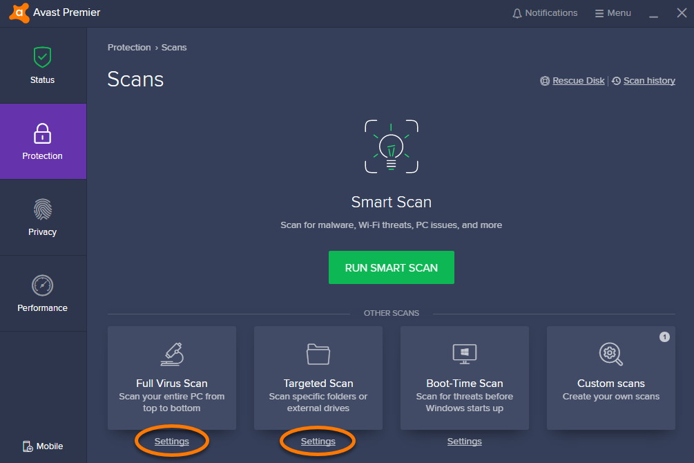 avast cybercapture exception