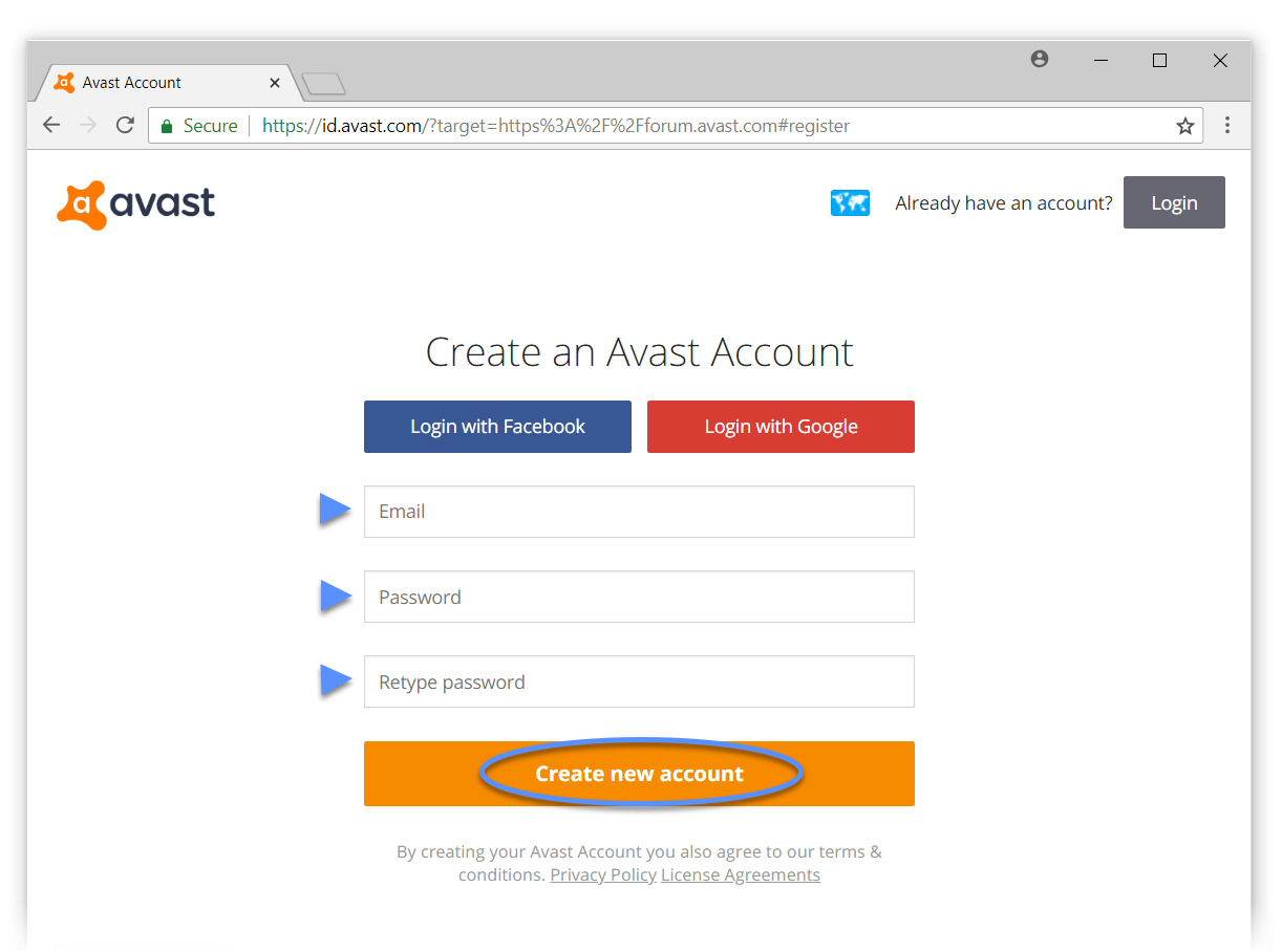 Creating an Avast Account | Official Avast Support