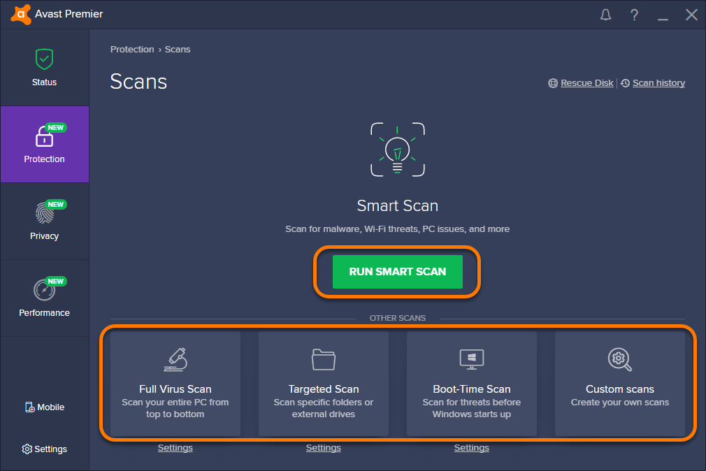 Scanning your PC for viruses with Avast Antivirus | Official Avast Support