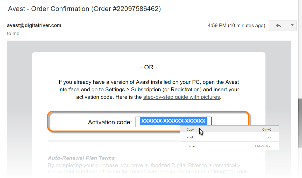 avast premier 2018 activation code till 2050