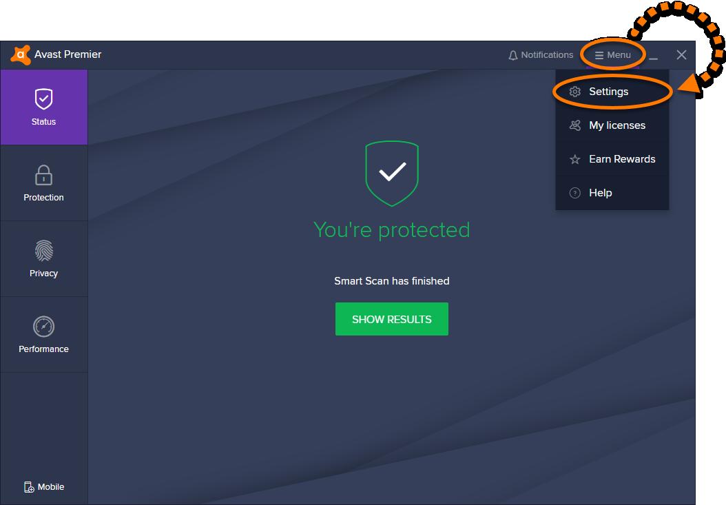 reinstall avast antivirus software