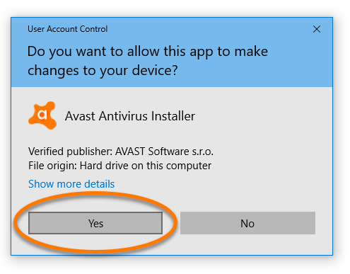avast not installing windows 10