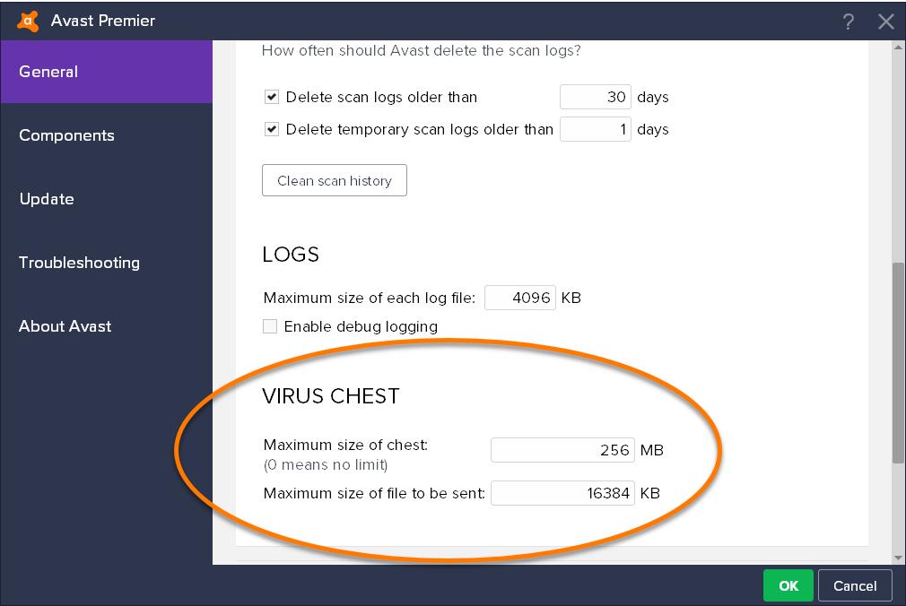 Avast virus chest restore