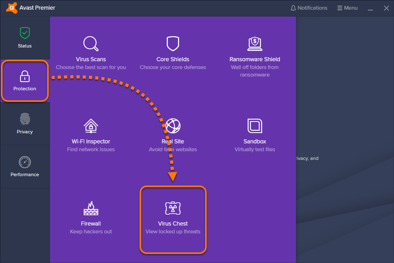 Using the Virus Chest in Avast Antivirus | Official Avast Support