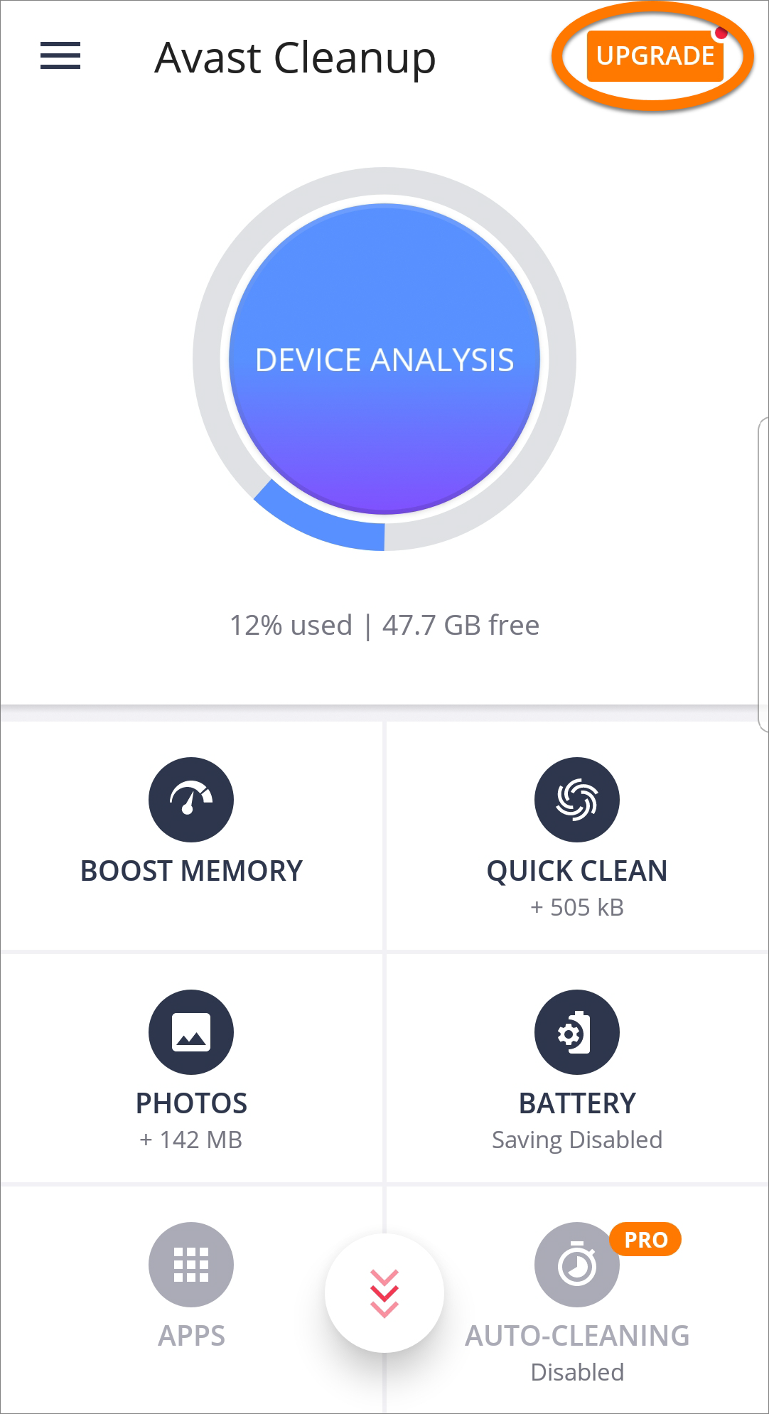 avast cleanup pro apk android
