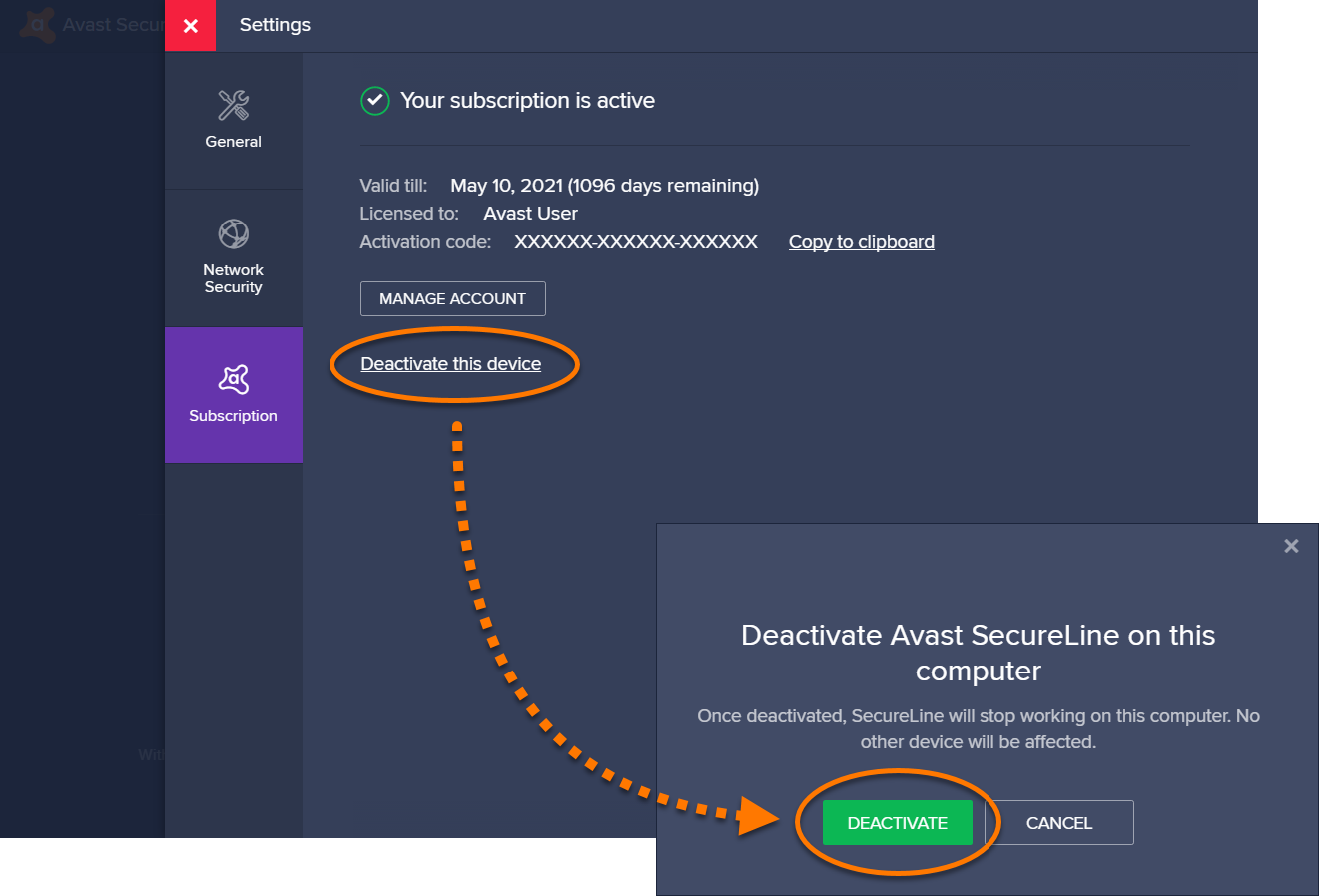 avast secureline vpn apk license key
