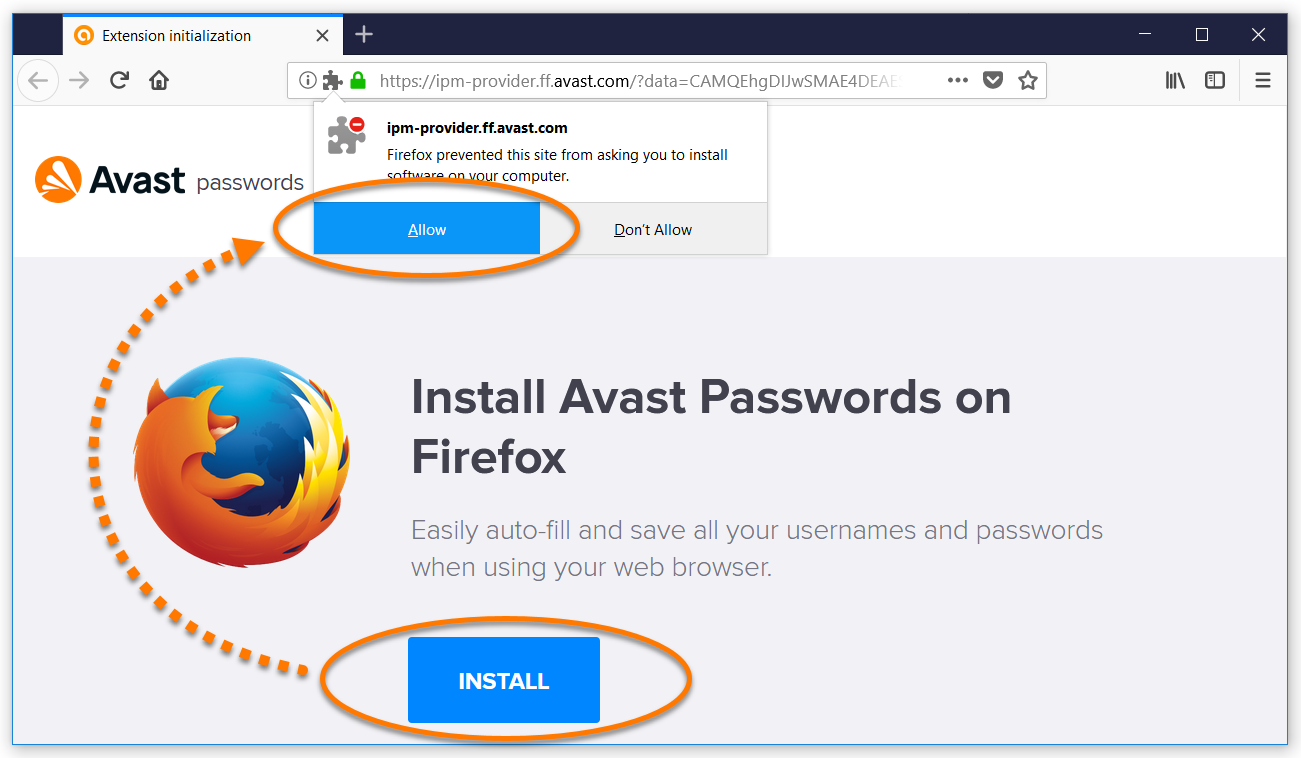 mozilla firefox avast online security