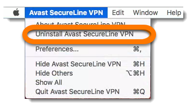 Uninstalling Avast SecureLine VPN from Mac | Official Avast Support