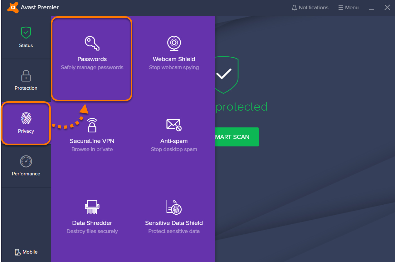 avast password manager chrome