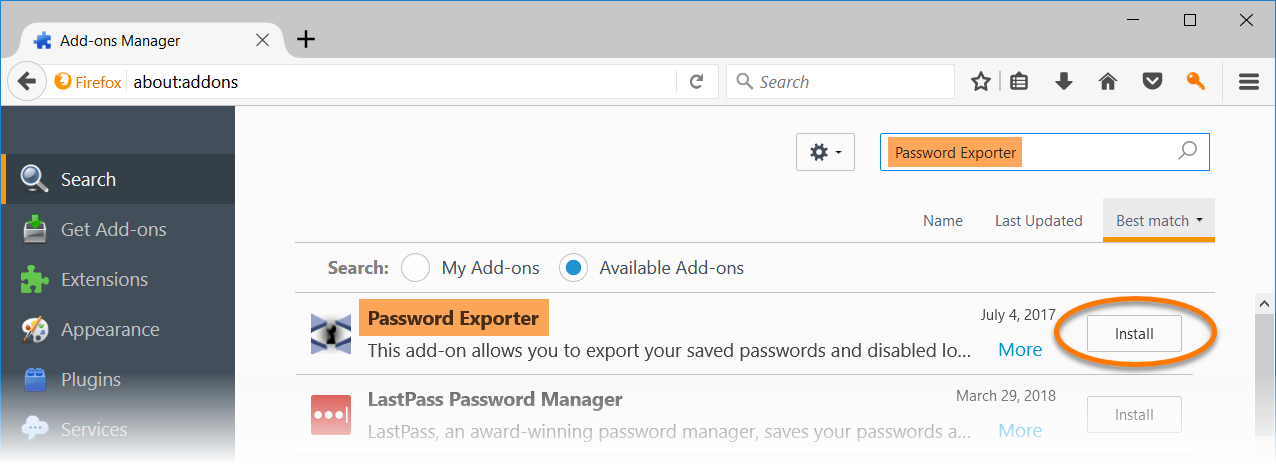 Exporting Avast Passwords data to Mozilla Firefox | Official Avast