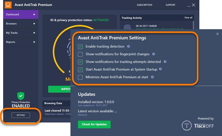 Avast AntiTrack Premium - Getting Started   Official Avast ...