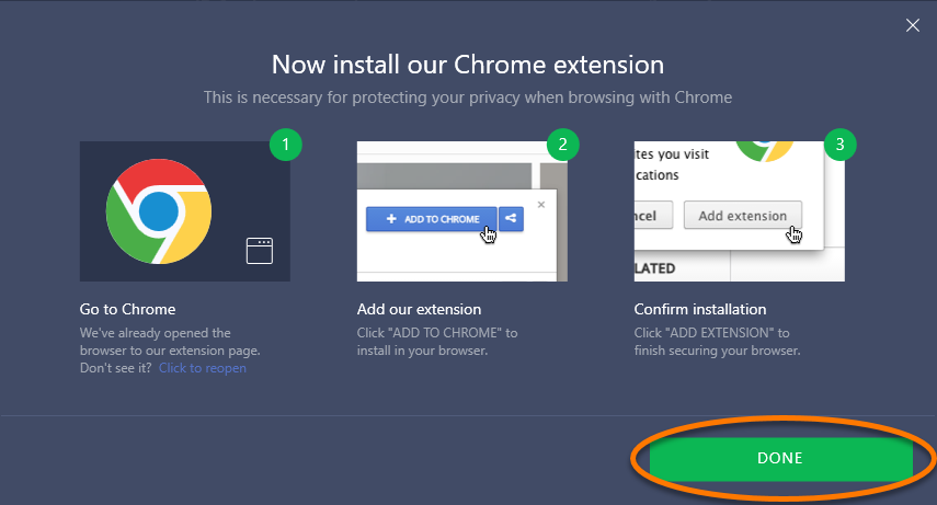 avast and google chrome