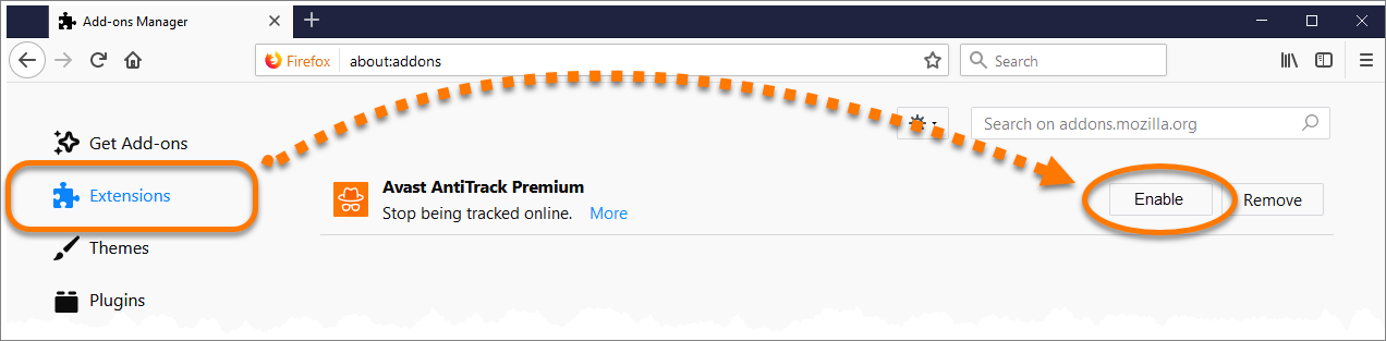 Installing the Avast AntiTrack Premium extension on your