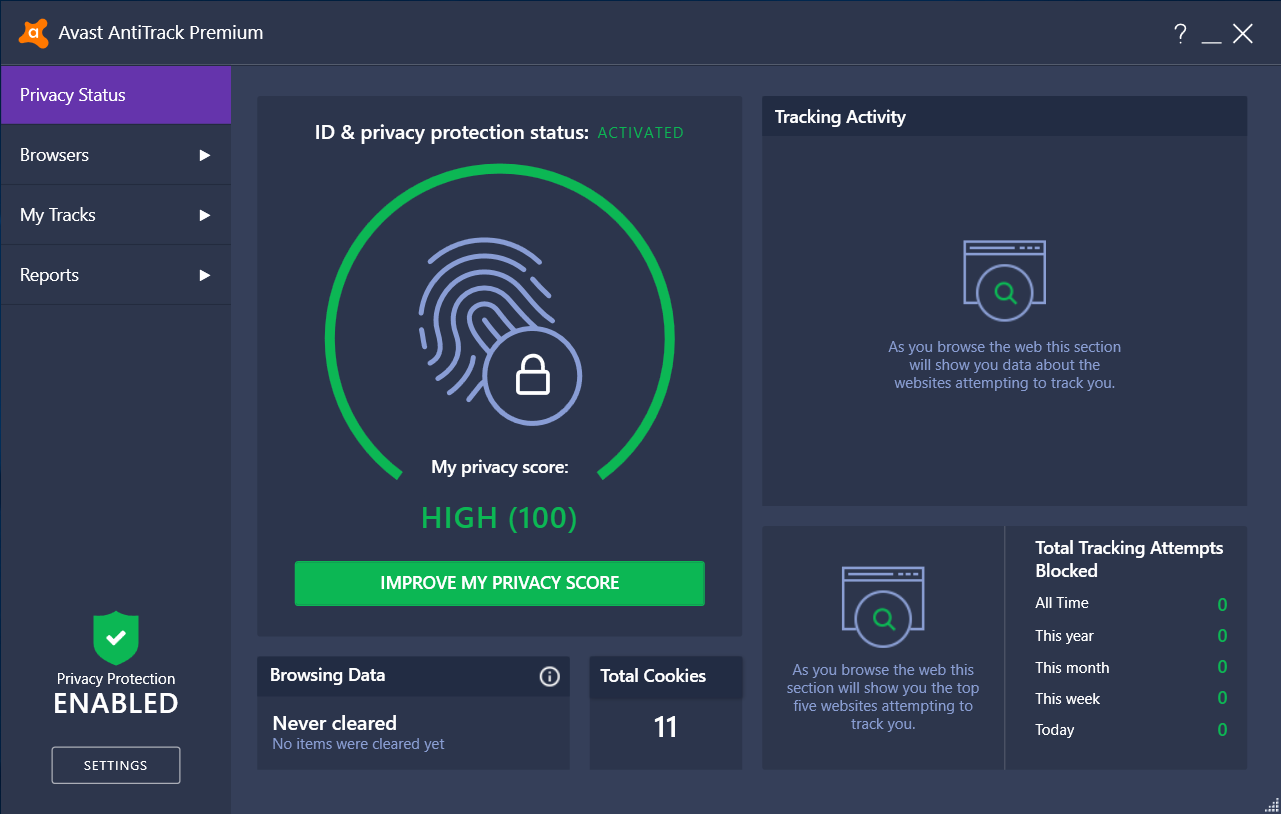 Avast anti track premium key