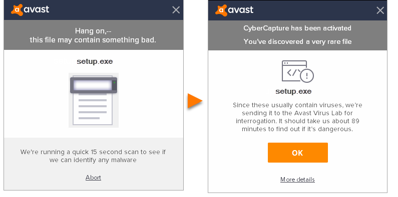 avast antivirus block application