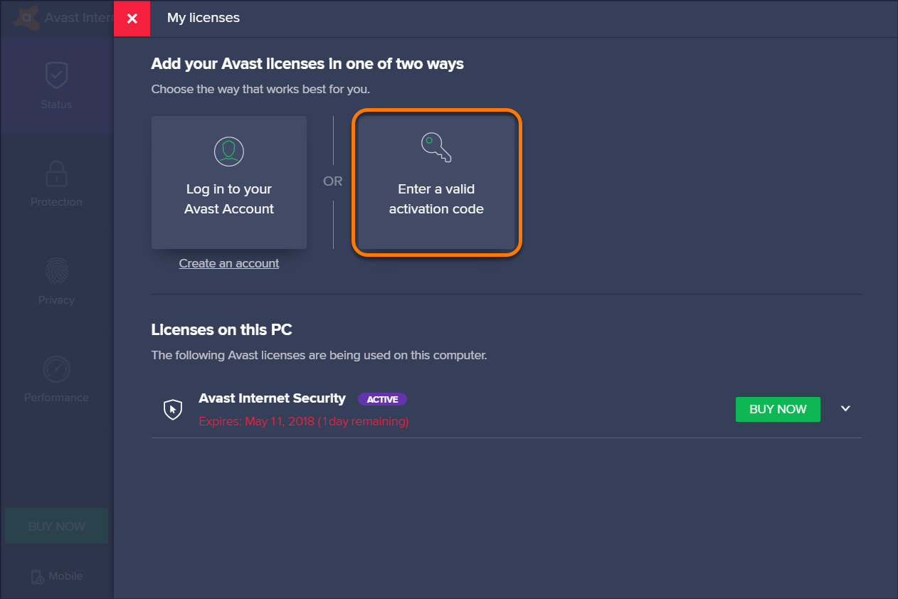 avast internet security license file 2050