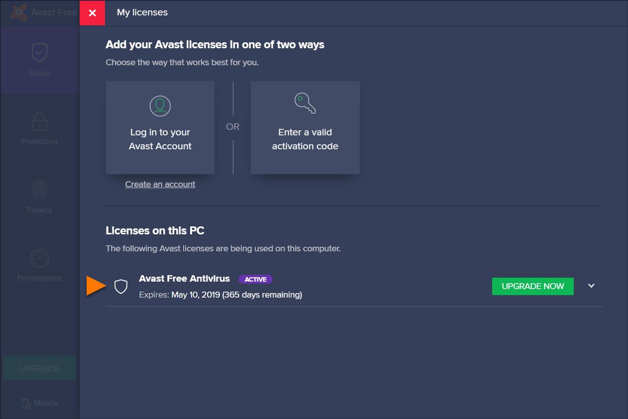 como activar la licencia de avast free antivirus