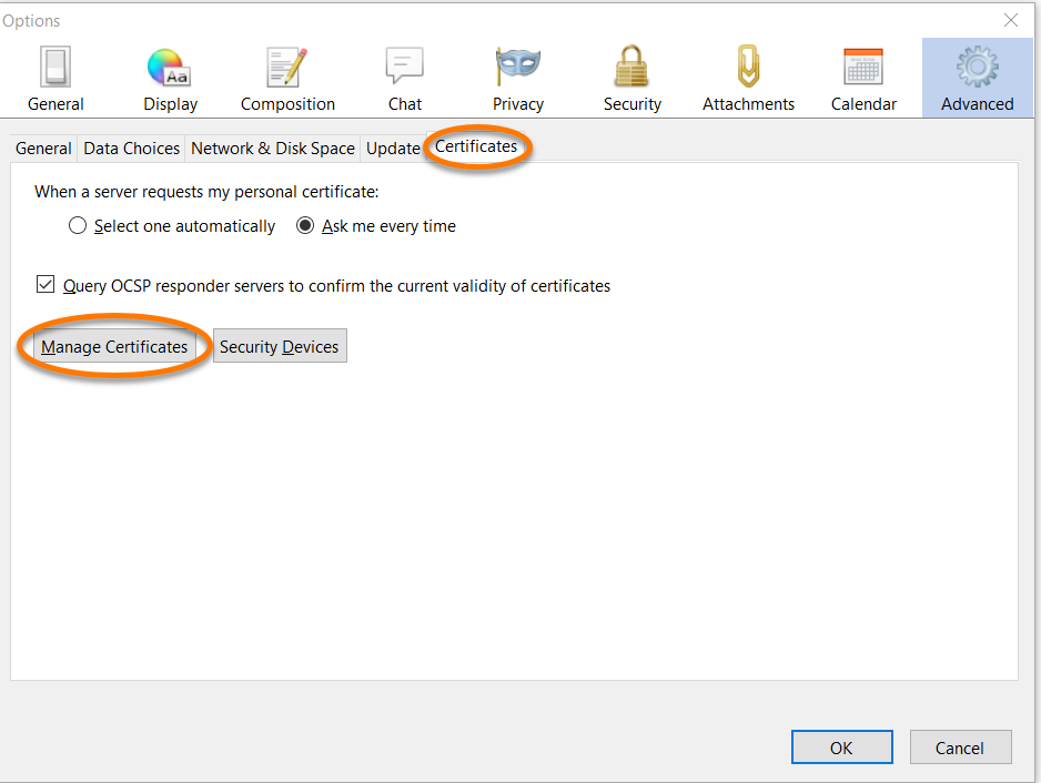 how to change invalid server certificate