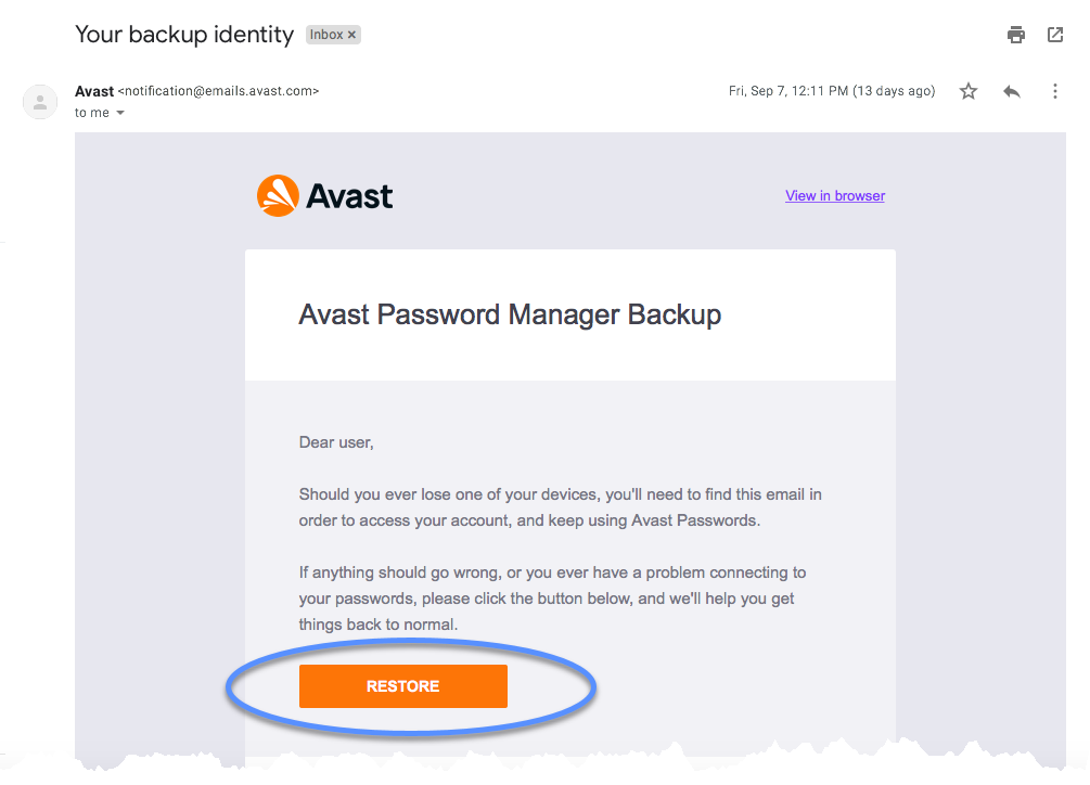 view avast passwords