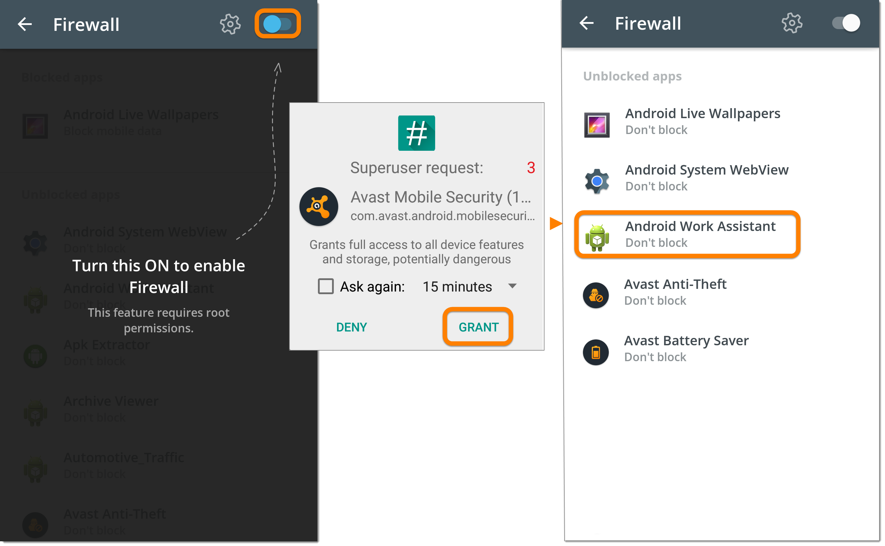 how to access avast anti theft