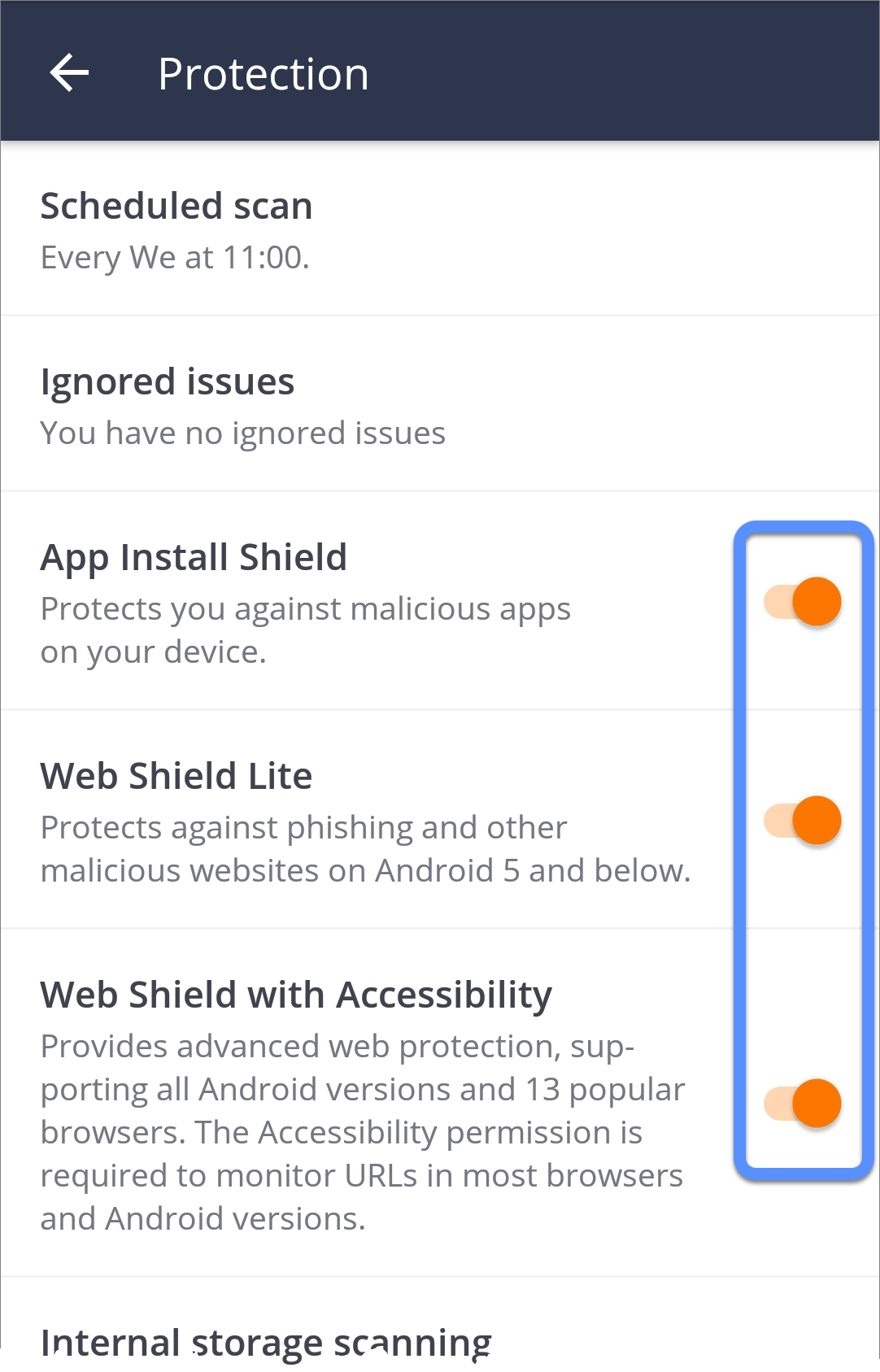 avast not working android
