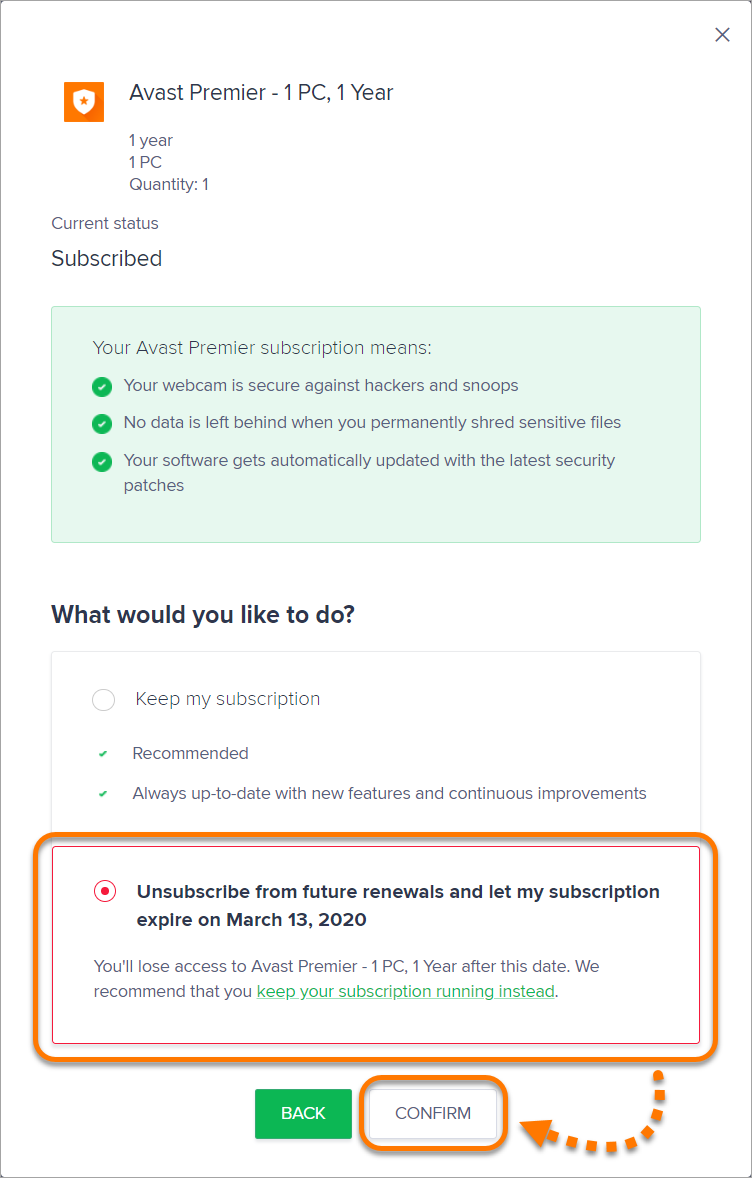 how to refund avast