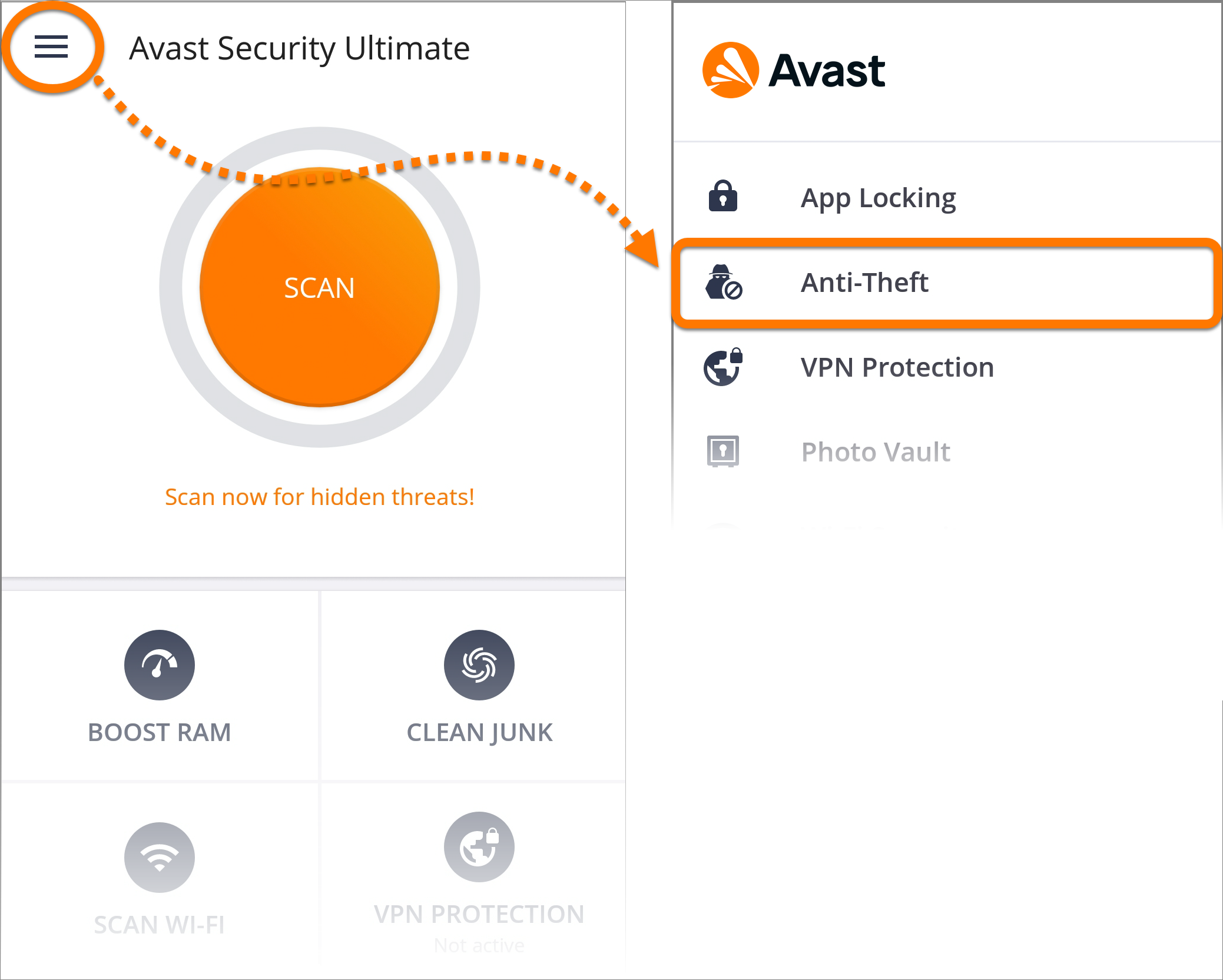 Resetting the Avast PIN for Anti-Theft in Avast Mobile Security
